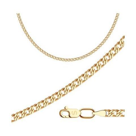 581010506- Цепь из золота 585 пробы плетение «Ромб двойной»