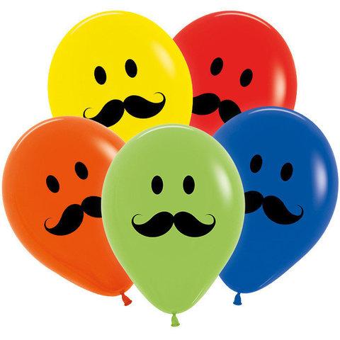 Воздушные шары Усы разноцветные