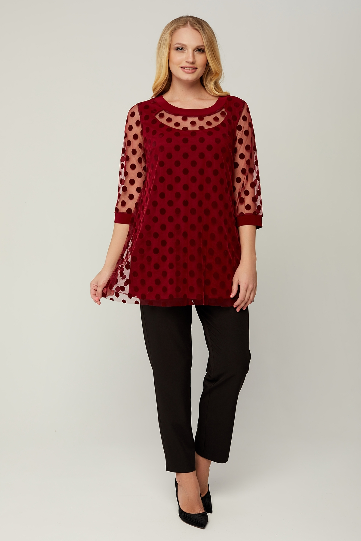 Блуза Грация (бордовый)
