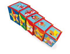Кубики SCRATCH 6181050 Stacking Tower Сircus