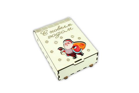 Шкатулка книжка - Санта