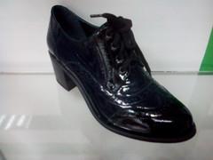 Стильные женские туфли на осень Olteya 12403-dark blue