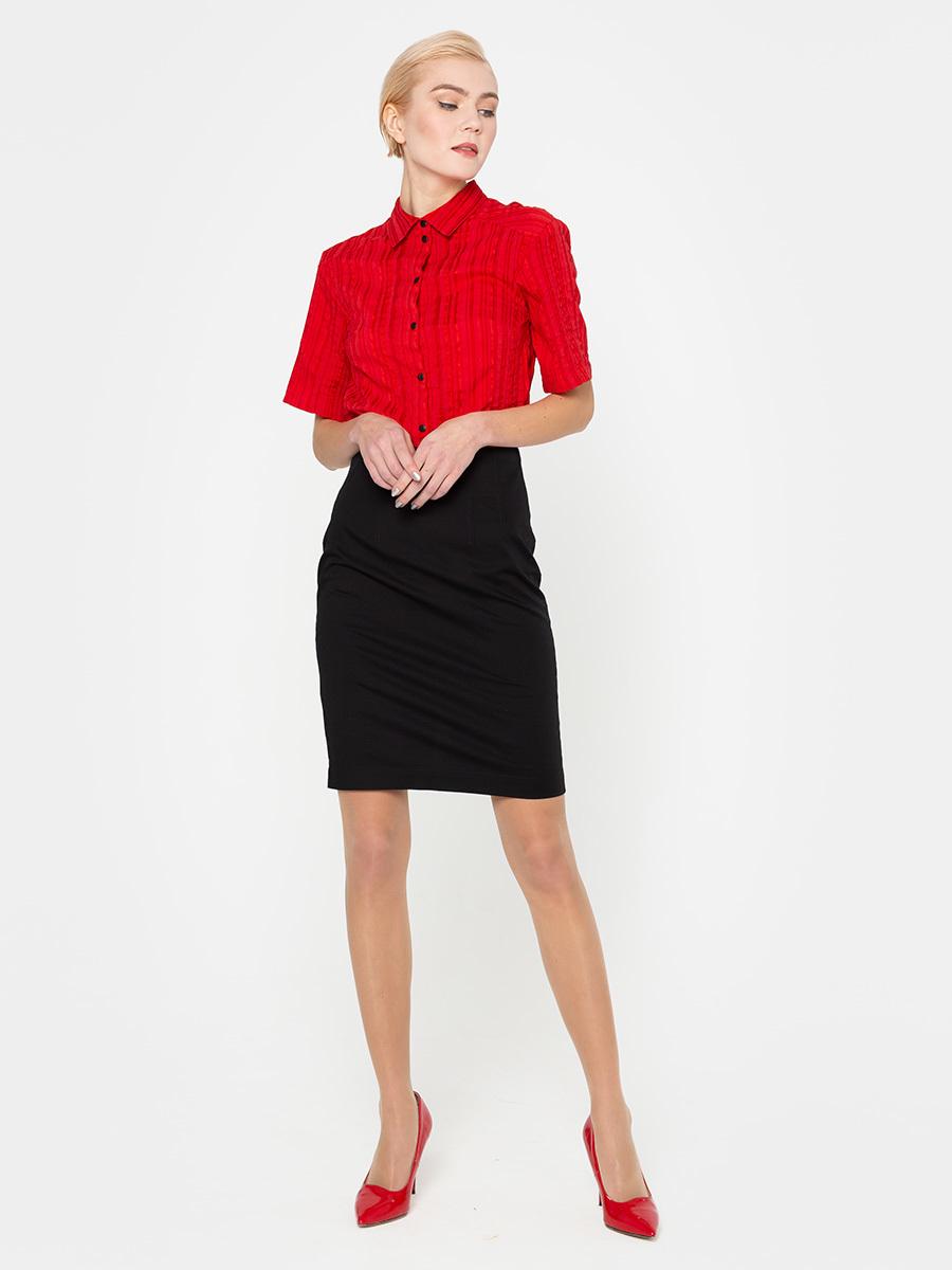 Юбка Б775-713 - Прямая юбка до колена, прекрасно сочетается с любым верхом, подойдет как для офиса так и для повседневной жизни.