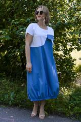 Агат. Оригинальное платье больших размеров. Джинс.