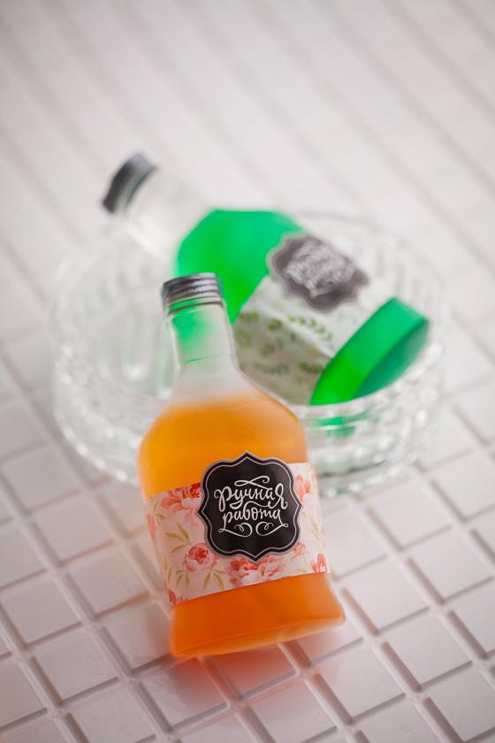 Мыло ручной работы Бутылка коньяка. Пластиковая форма