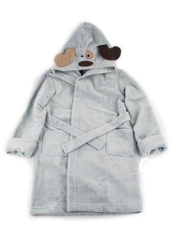 Детский  банный  махровый  халатик  Doggy серый