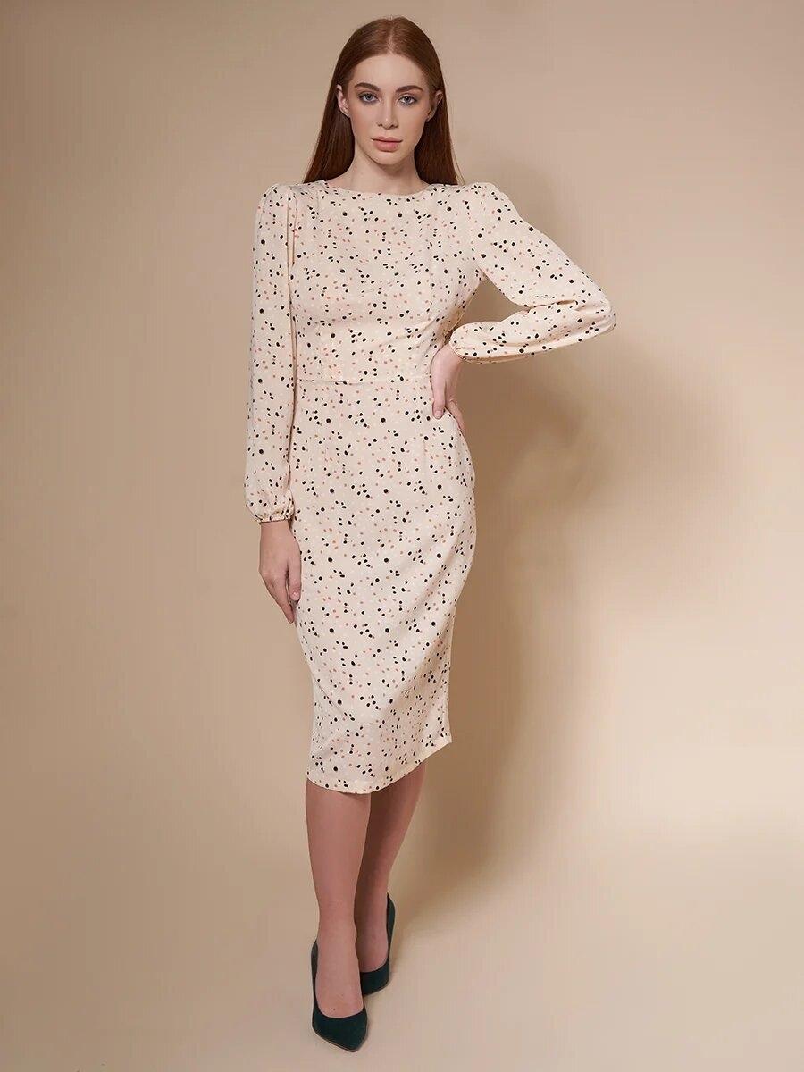 Платье миди с вырезом на спинке « Pebbles»