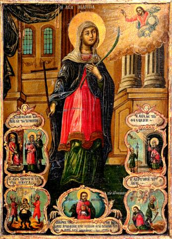 Икона святая мученица Марина на дереве на левкасе  мастерская Иконный Дом