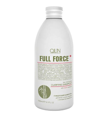 OLLIN full force очищающий шампунь для волос и кожи головы с экстрактом бамбука 300мл