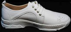 Женские кожаные спортивные туфли с перфорацией Derem 18-104-04 All White