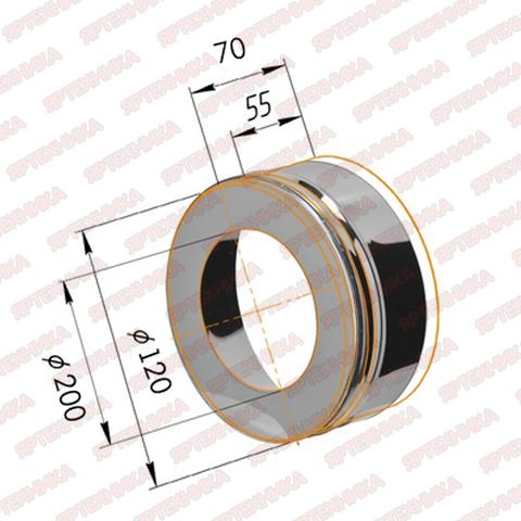 Заглушка с отверстием d120х200мм (430/0,5мм) Ferrum