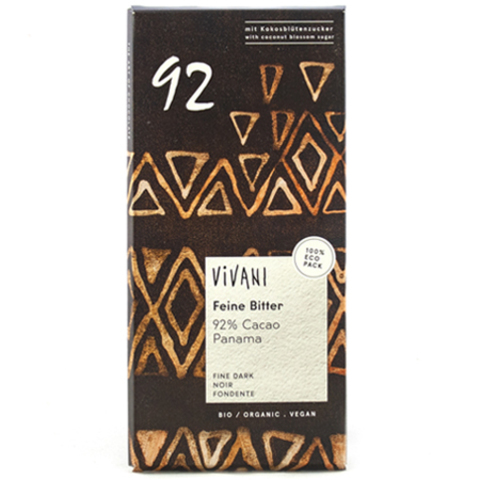 Vivani, Шоколад Горький 92% какао, Vivani 80 г