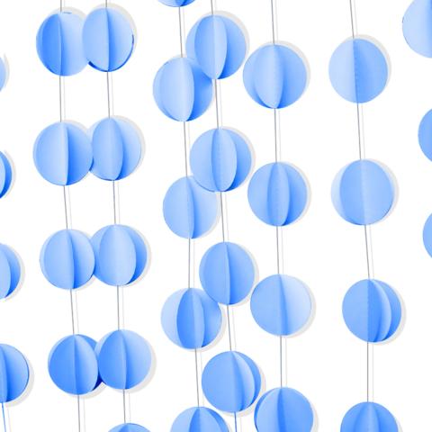 Гирлянда-подвеска Круг, Голубой