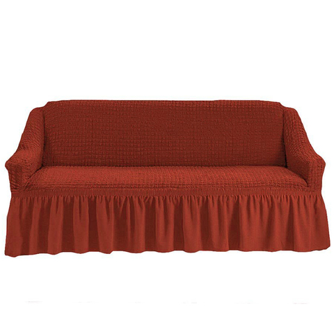 Чехол на четырехместный диван, терракотовый