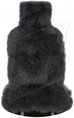 Накидка из натурального меха (Овчина, длинный ворс, цельная шкура, Австралия)