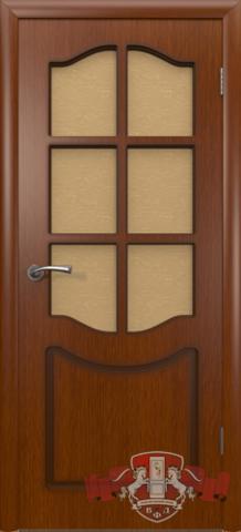 Дверь 2ДР2 (макоре, остекленная шпонированная), фабрика Владимирская фабрика дверей