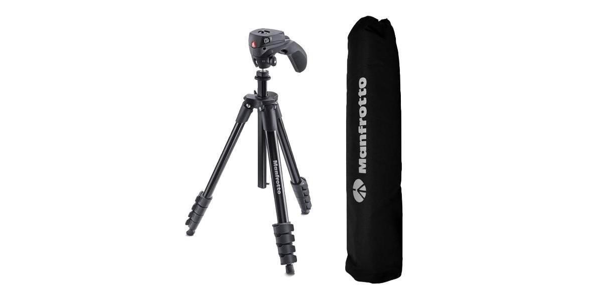 Штатив с фото- и видеоголовкой для фотокамеры Manfrotto Compact Action + чехол
