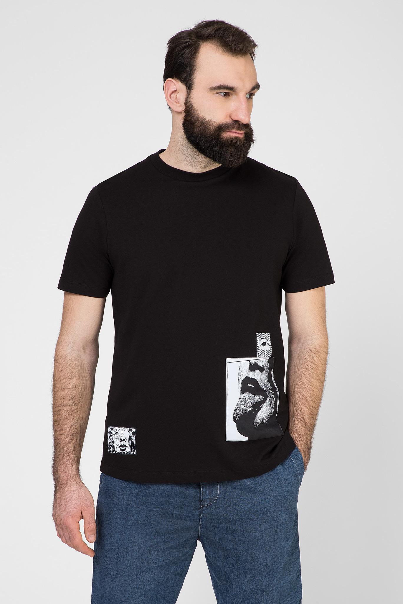 Мужская черная футболка T-JUST-T18 Diesel
