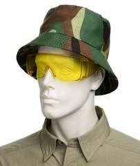 Защитные очки желтого цвета и панама для комплета