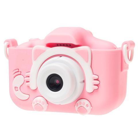 Детский фотоаппарат kitty котик розовый