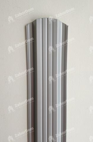 Евроштакетник металлический 115 мм RAL 9006 П - образный 0.5 мм