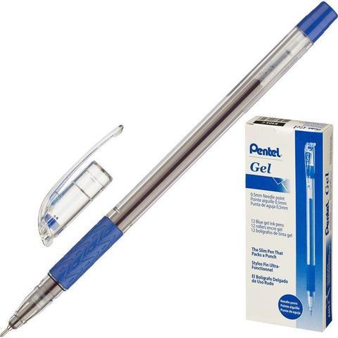 Ручка гелевая Pentel синяя (толщина линии 0.25 мм)