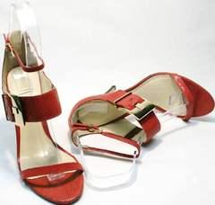 Красивые босоножки на лето женские Via Uno1103-6605 Red.