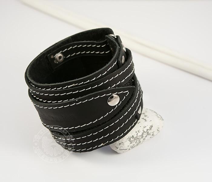 Boroda Design, Мужской браслет напульсник из кожи, ручная работа, «Boroda Design»