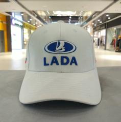 Кепка ЛАДА белая (Бейсболка LADA)