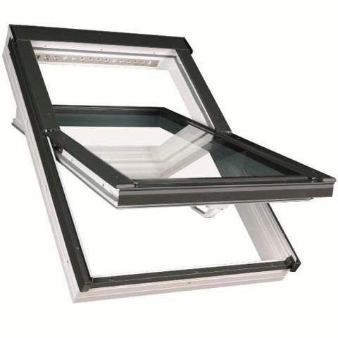 Мансардное окно Факро PTP-V U3 ПВХ Profi 55х78