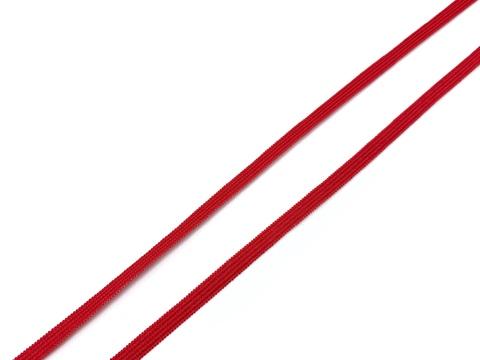 Резинка отделочная красная 4 мм (цв. 100)
