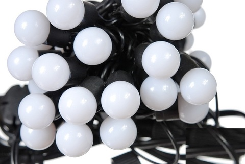 Светодиодные новогодние гирлянды шарики 10 метров 100 штук