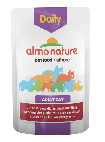 Паучи Almo Nature Daily Menu - Cat Chicken and Duck