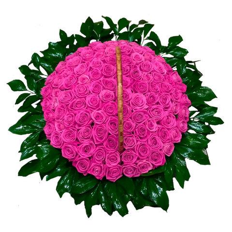 Ритуальная корзина из живых цветов