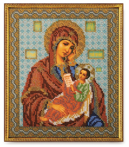 производитель РАДУГА БИСЕРА¶артикул В-158¶размер 20х24¶техника вышивания бисером¶тематика религиозна
