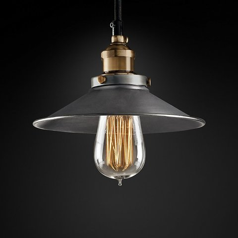 Подвесной светильник копия 20th C. Factory Filament Metal Single Pendant by Restoration Hardware