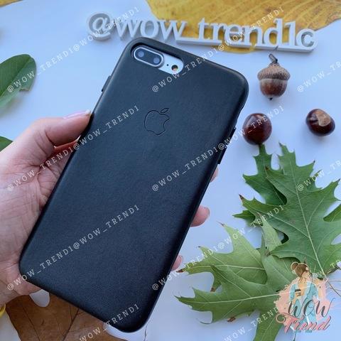Чехол iPhone 7 Plus Leather Case /black/