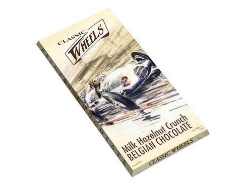 Молочный шоколад Classic Wheels с дробленым фундуком, 100 г