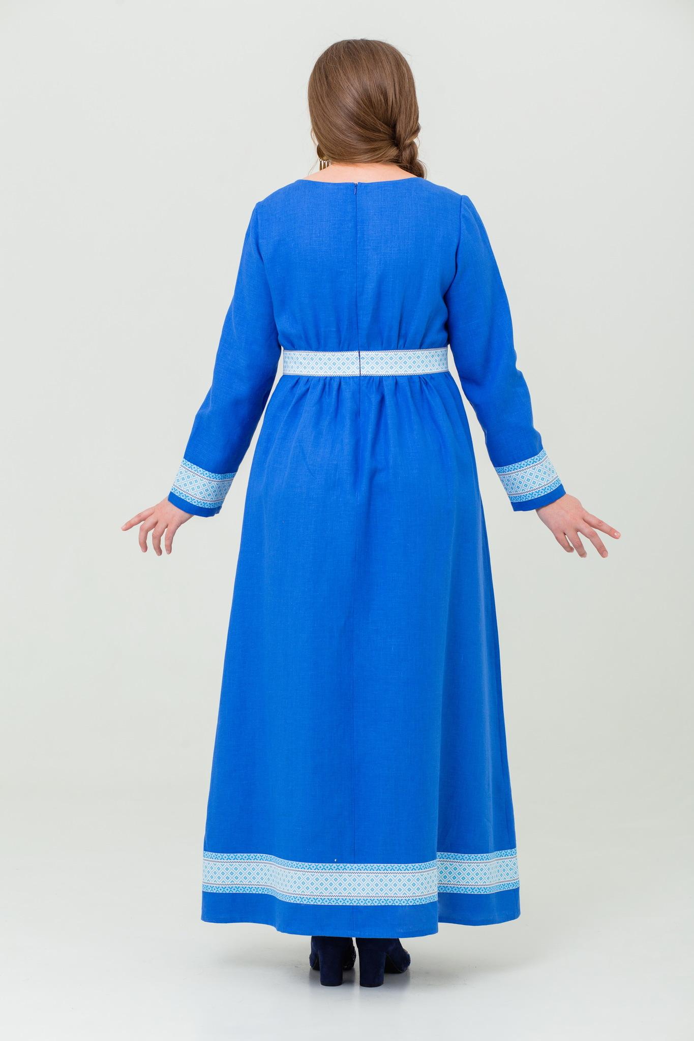 Платье льняное Процветание славянское