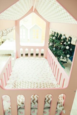 Кровать-Домик ЛДСП без ящика (Розовый,Лайм,Желтый)