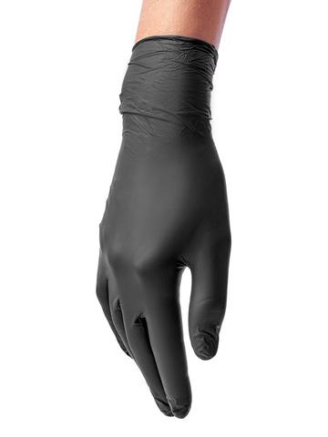 Перчатки медицинские смотровые нитриловые Benovy нестерильные неопудренные размер S Черные (50 пар в упаковке)