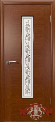 Дверь 8ДО2 (макоре, остекленная шпонированная), фабрика Владимирская фабрика дверей