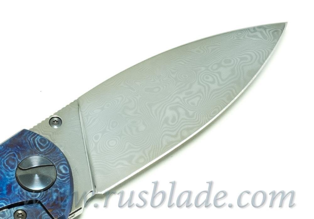 Cheburkov Toucan Custom Timascus Damascus Folding Knife