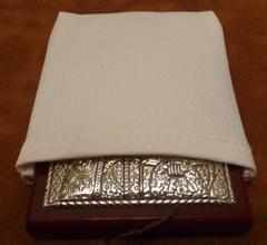 Серебряная с золочением икона Божией Матери Целительницы 16х12см