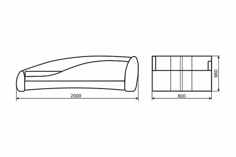Кровать ФОРМУЛА МИНИ Экостайл 10+Экостайл 01\вышивка Formula M