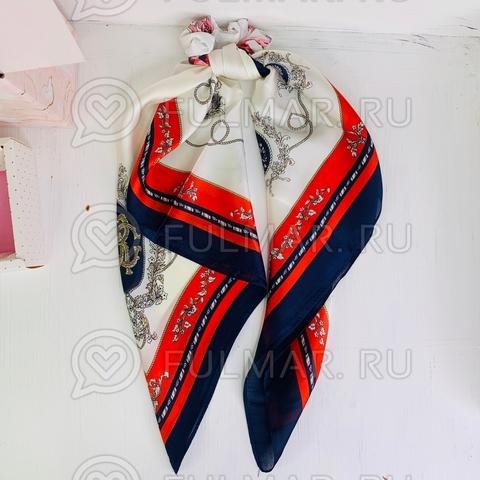 Платок с резинкой модный аксессуар для волос (цвет: белый, красный, синий)