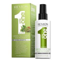 Revlon Uniq One Green Tea Scent Hair Treatment - Несмываемая маска-спрей для ухода за волосами с ароматом зеленого