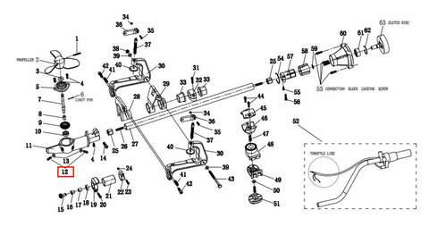 Заливная пробка M6*12, для лодочного мотора T2 SEA-PRO