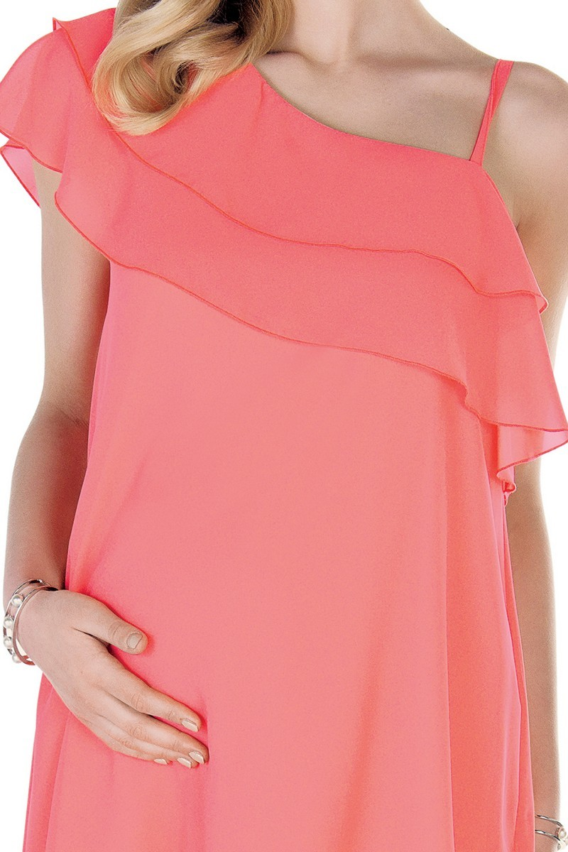 Платье для беременных 09532 коралл