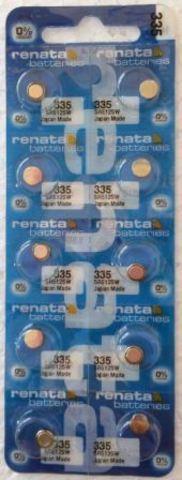 Элемент питания Renata 335 (SR512SW)0%Hg BL-10/100